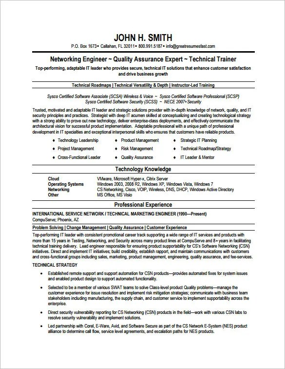 Network Security Resume Format. Sample Information Security