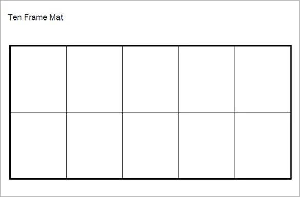 Tens Frames Template. professor pete 39 s classroom template ...
