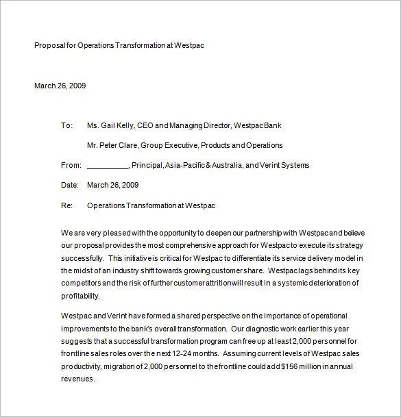 Business Proposal Letter Template Free Download Proposal Letter