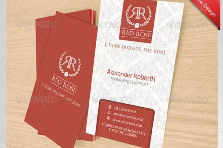 Name Card Templates     18  Free Printable Word  PDF  PSD  EPS Format     Red Rose Name Card Template for  6