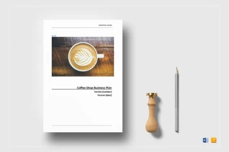 Coffee Shop Business Plan Template   13  Free Word  Excel  PDF     sample coffee shop business plan template  Download
