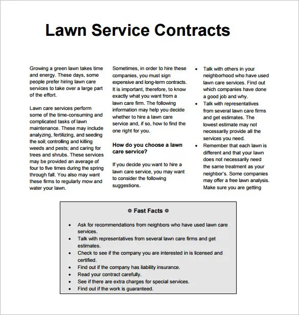 Doc530709 Basic Contract Outline Free Contract Templates Word – Basic Services Contract
