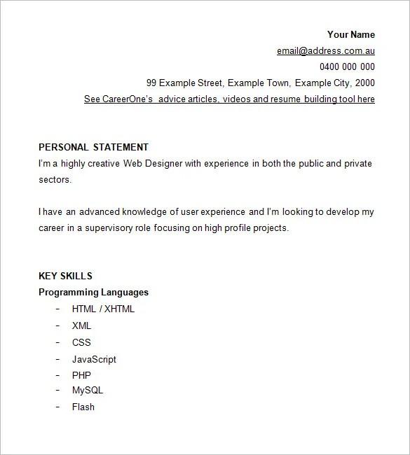 designer resume template 8 free samples examples format