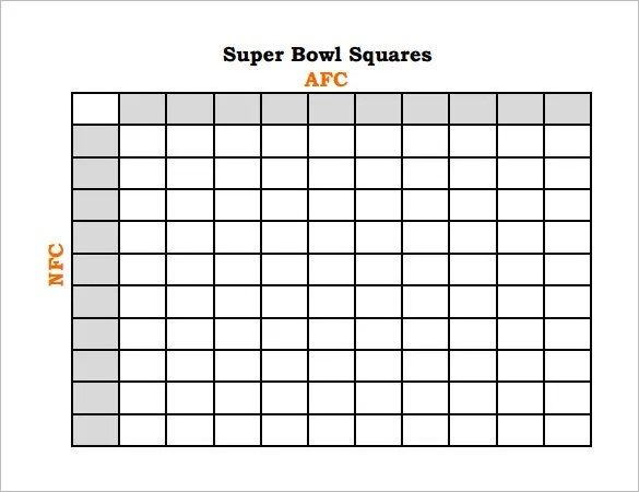 2015 super bowl printable grids autos post for Football blocks template