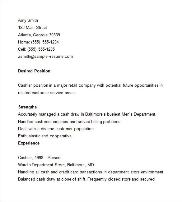 sample resume for cashier cv for cashier here is link for this