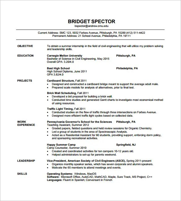 engineer resume examples resume sample