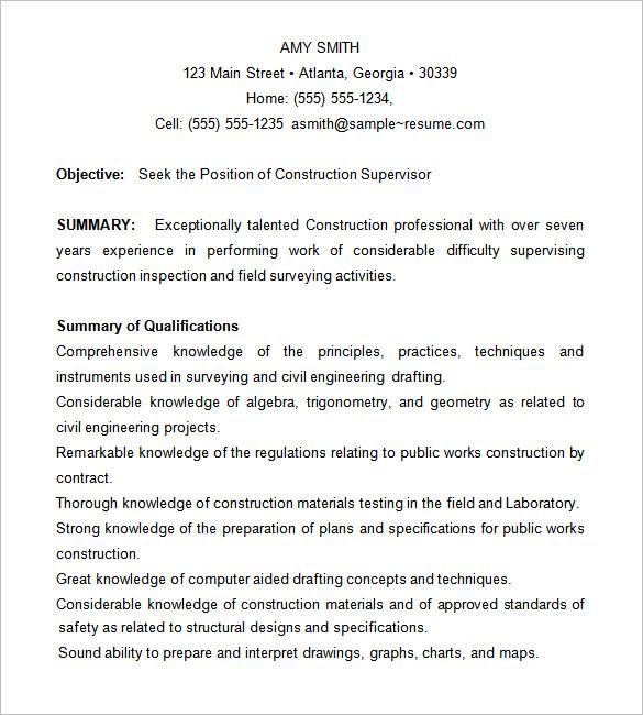 Construction Job Resume Format. Simple Job Resume Format Resume