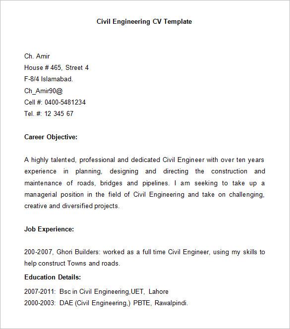 Civil Engineer Resume Template Word Or Resume Aerospace Engineer