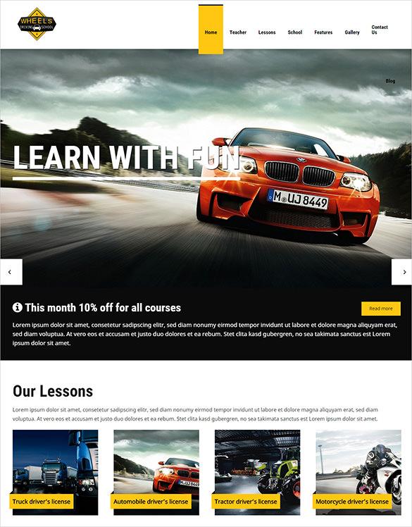 9 Driving School Wordpress Templates Themes Free