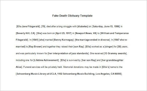 free download obituary template microsoft word - Romeo.landinez.co