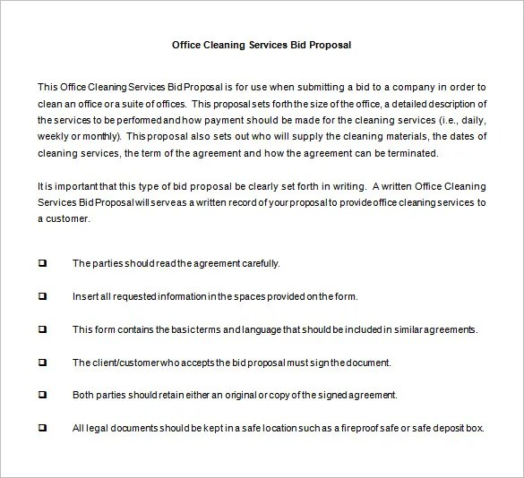 janitorial services contract template