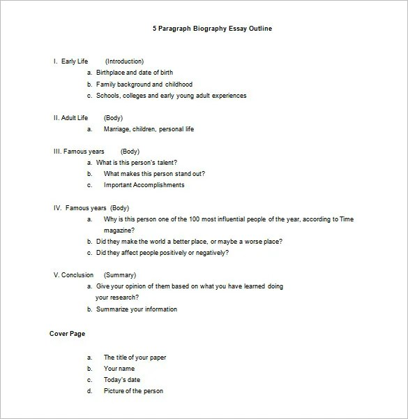Biography Essay Examples. cover letter examples of biography ...