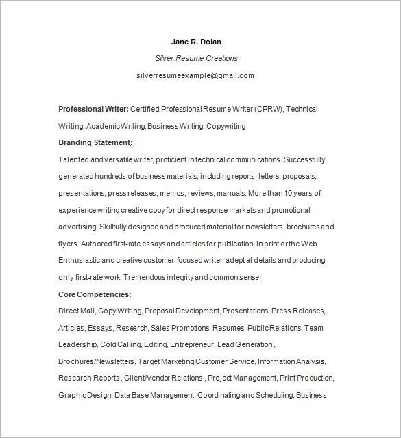 Resume writing certification