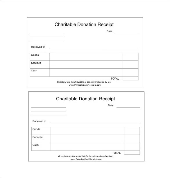 charitable donation receipt template free download champlain college publishing. Black Bedroom Furniture Sets. Home Design Ideas