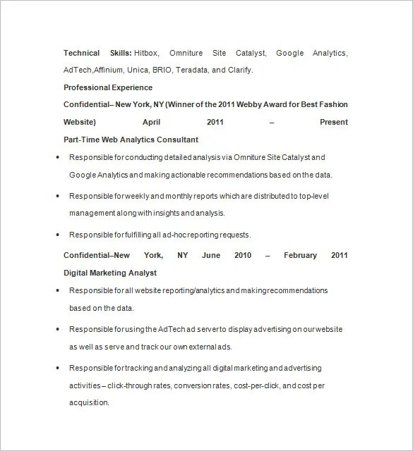 marketing business analyst resume sample business analyst resume