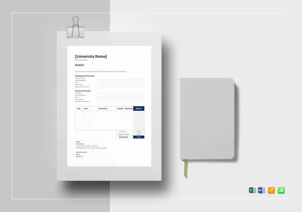 Education Invoice Templates   10  Free Word  Excel  PDF Format     Education Invoice Template