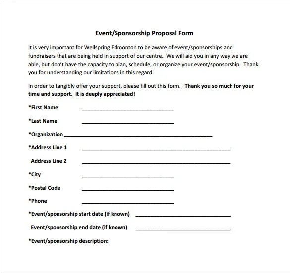 sponsorship form template charity sponsorship form template image – Free Sponsorship Form Template
