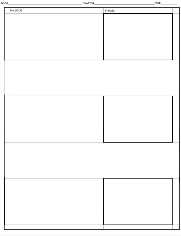 Comic Storyboard Template 8 Free Word Excel Pdf Ppt Format