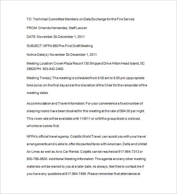 16 Notice Of Meeting Templates Google Docs Ms Word