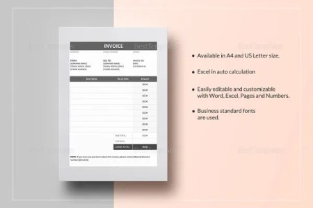 Tax Invoice Templates   16  Free Word  Excel  PDF Format Download     Invoice Example Template