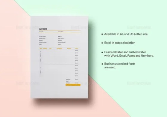 Graphic Design Invoice Templates   12  Free Word  Excel  PDF Format     Painting Invoice Template