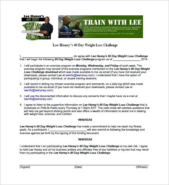 Weight Loss Challenge Wording