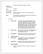 Informative Speech Outline Template  speech outline template