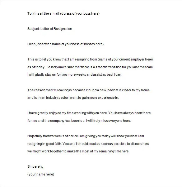 15 Two Weeks Notice Templates Google Docs MS Word Apple Pages PDF Free Premium Templates