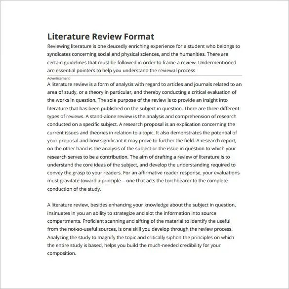 Literature review in apa