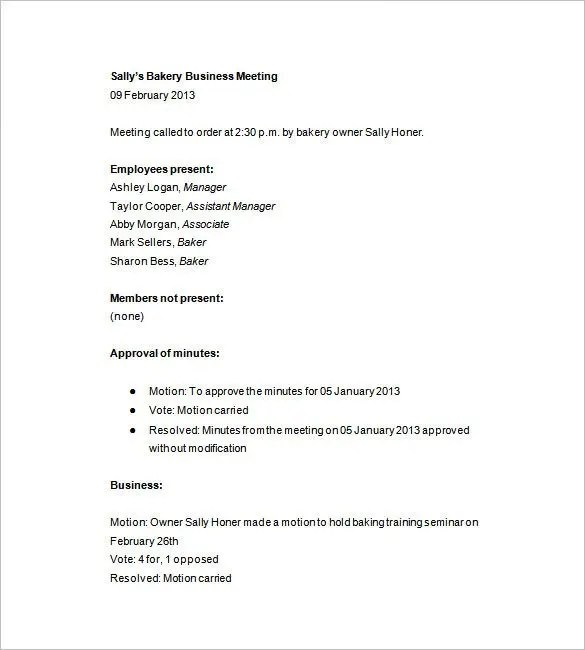 Taking Meeting Minutes Template 12 taking minutes template free – Taking Minutes Format