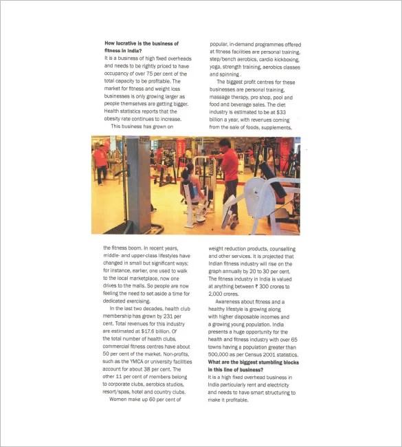Gym Fitness Center Business Plan Zenfitt