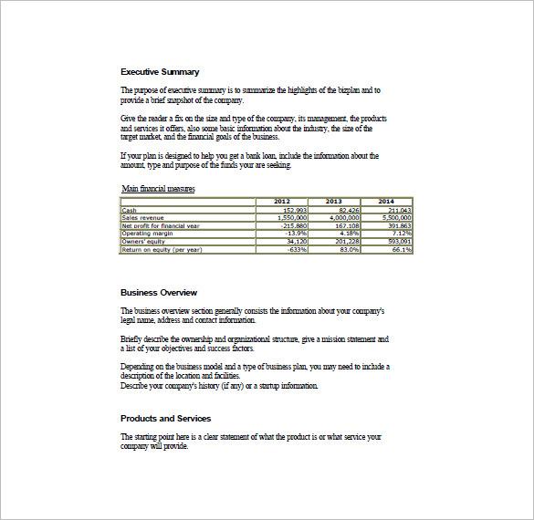 Plan Business Salon Outline