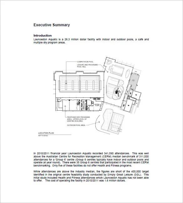 Gym business plan sample