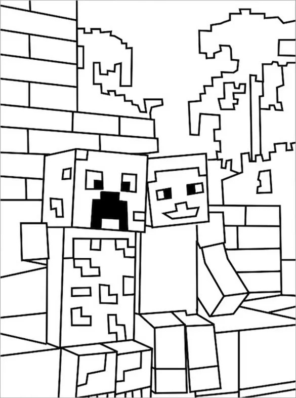 minecraft printables coloring pages # 29