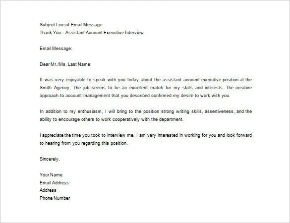 interview thank you letter template images साठी प्रतिमा परिणाम