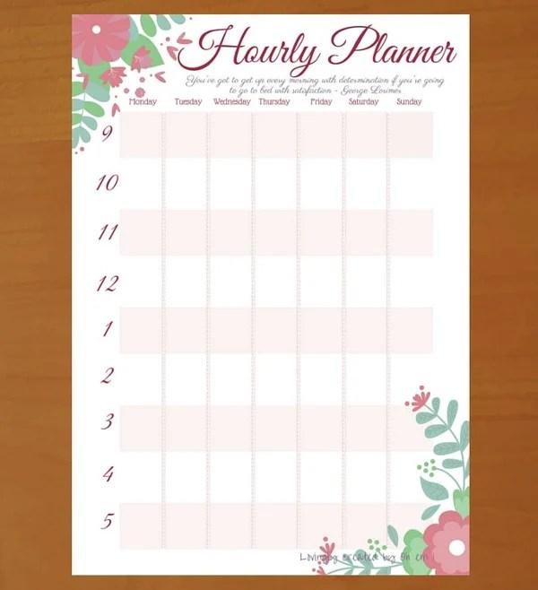5 Hourly Planner Templates PDF Free Premium Templates