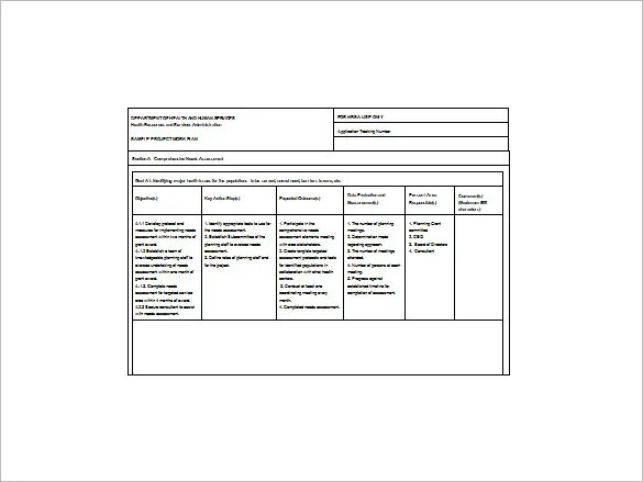 Project Action Plan Template 17 Free Word Excel PDF Format Download Free Premium Templates