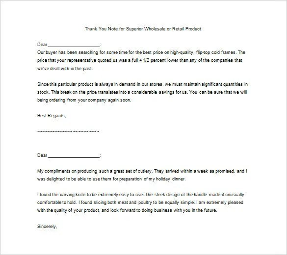Producing a Small Business Thank You Letter