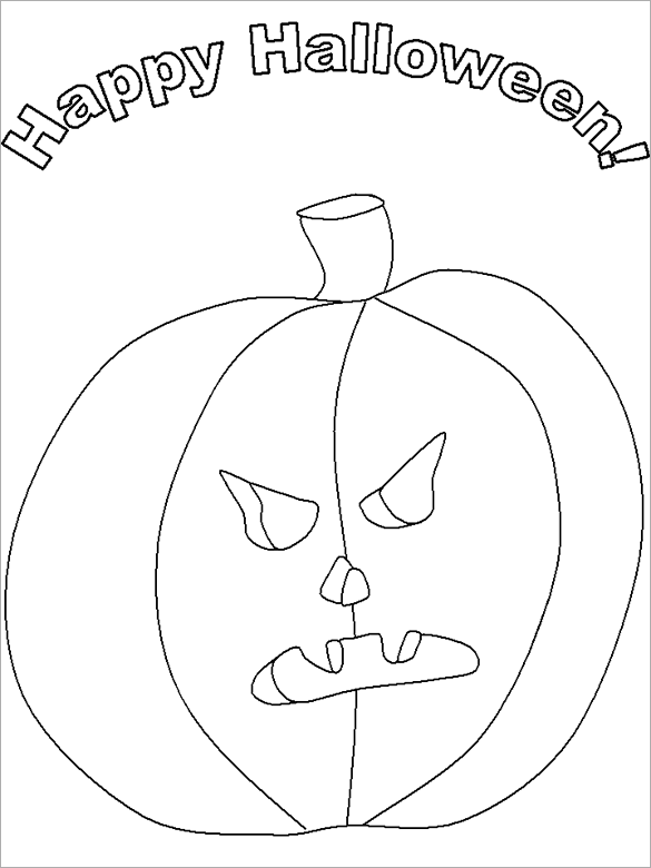 20 Halloween Coloring Pages Pdf Png Free Premium Templates