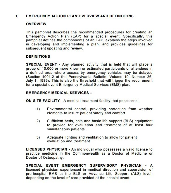Emergency Action Plan Template 9 Free Sample Example Format Download Free Amp Premium Templates