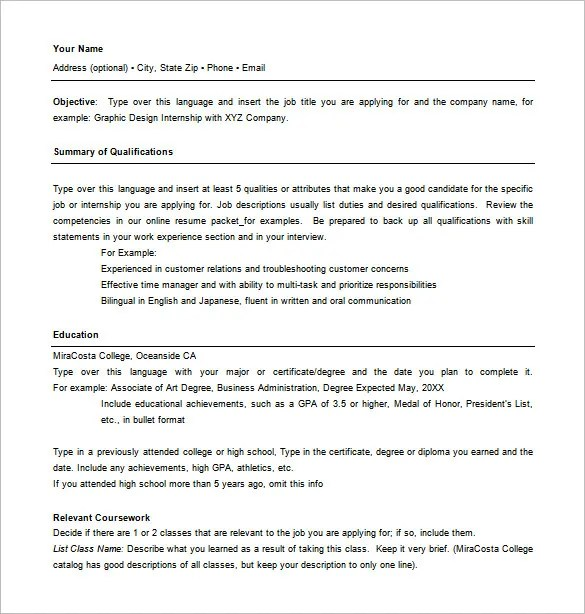 Combination Resume Examples Free. Combination Resume Template