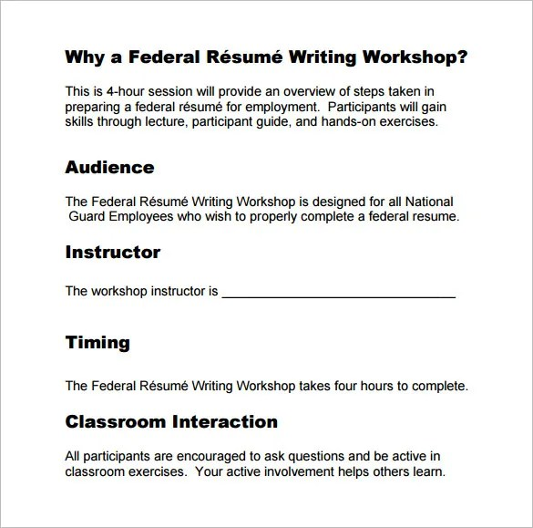 Federal Jobs Resume Writing. Federal Resume Example Federal Resume