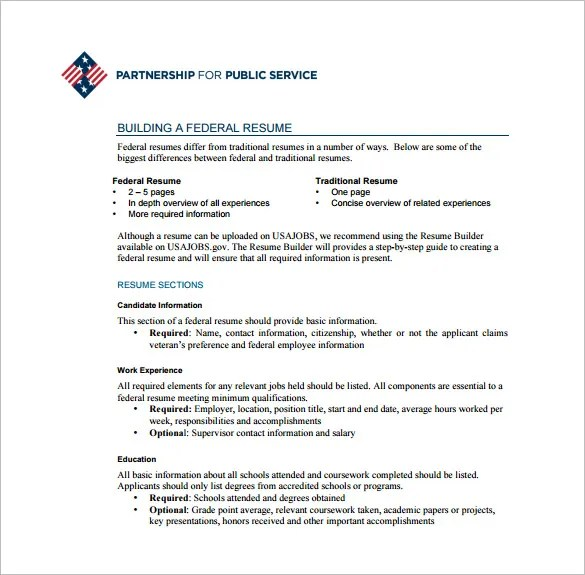 Federal Resumes. Examples Of Federal Resumes And Get Ideas How To