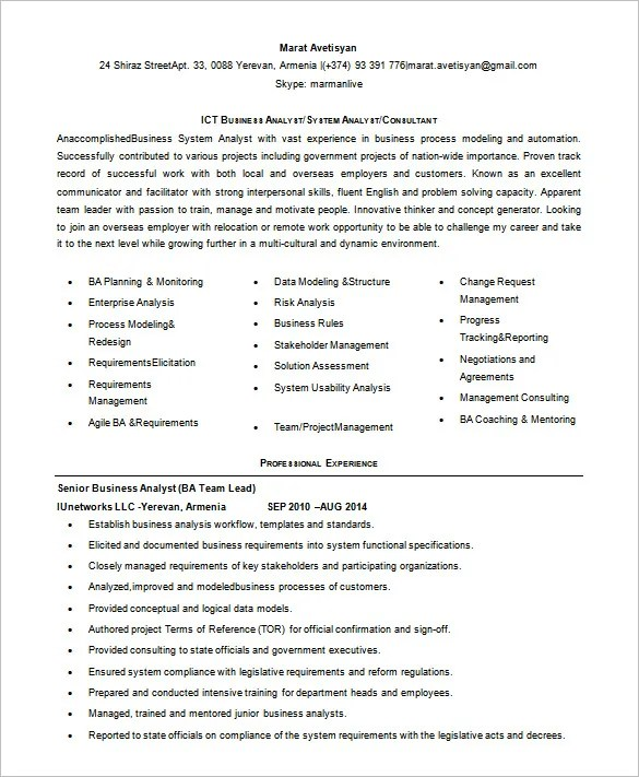 business analyst ba ex10jpg resume template business analyst resume