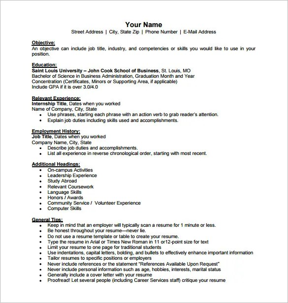 business resume template 11 free word excel pdf format - Resume Pdf Format