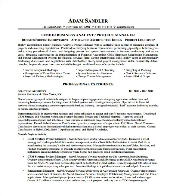 interesting project manager resume simpson senior project with senior project ideas