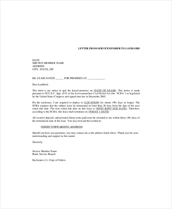 Free Sample Commercial Lease Termination Letter | Docoments Ojazlink