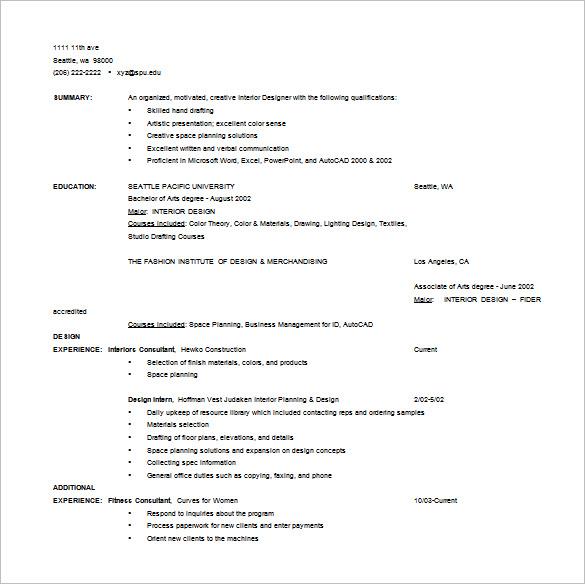 designer resume template 9 free word excel pdf format