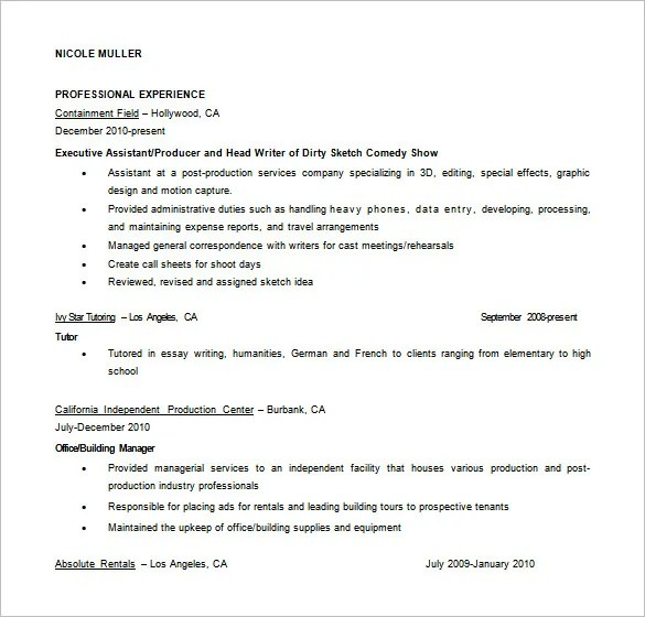 assistant fashion designer resume in ms word