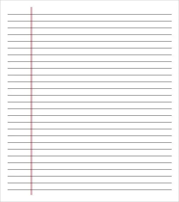 Lined Note Paper Template. Lined Paper Template 12 Free Word Excel